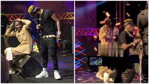 'Richest Musician in Ghana', Shatta Wale sprays 1ghc notes at Asaase Soundclash (video)