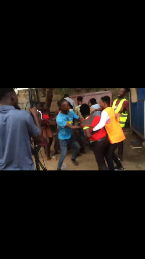 Watch video as a lady beats a movie director goes viral on the internet