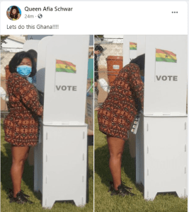 Afia Schwarzenegger Casts Her Vote; See Pictures