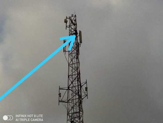 Man climbs tall mast and refuses to come down