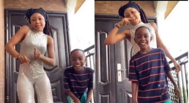 Akuapem Poloo And Son Put Smiles On Each Other's Face As They Have Fun On TikTok