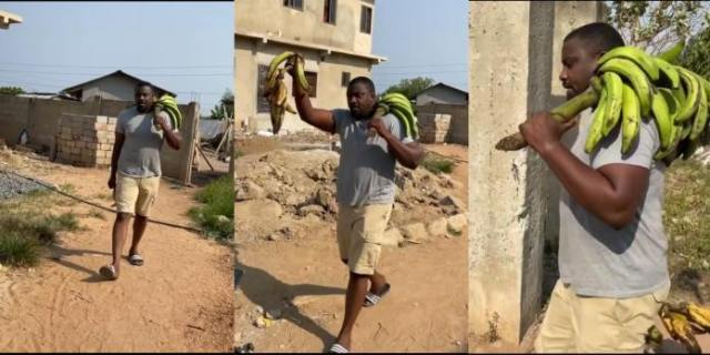 John Dumelo Plays The Role Of A Plantain Seller In Upcoming Movie