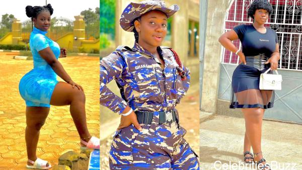 Adorable photos of a beautiful Ghanaian female police officer who can arrest every person with her look