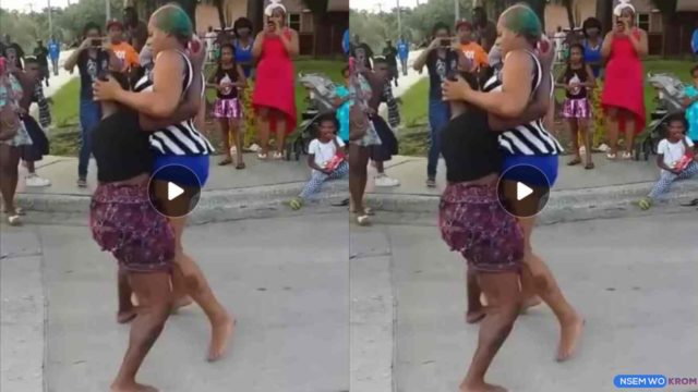 See How These Two Ladies Fight Massively Over Man On The Street (Watch)