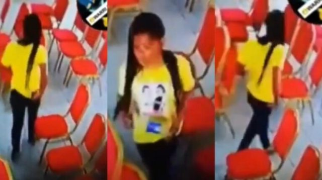 Lady Captured On CCTV Stealing A Phone In Church Goes Viral (Watch Video)