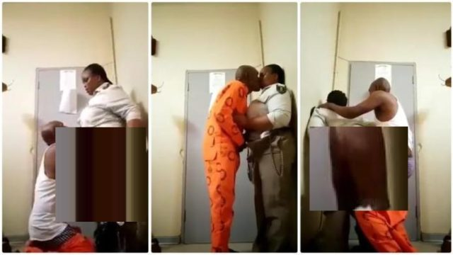 South African female prison warder s__xtap£ with inmate hits online [Watch]