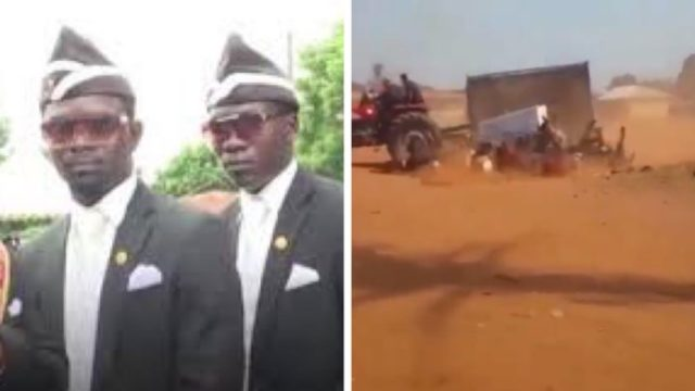 Tractor Carrying Funeral Folks Somersault, Dumping them like Quarry Stones