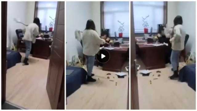 Woman flogs her boss with mop stick for sending her s£xual texts