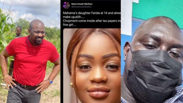 """""""You are a stup1d f00l"""" – John Dumelo descends on NPP communicator who made s3xual jokes about Mahama's daughter, Farida Mahama"""