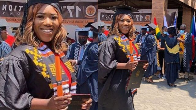 Victoria Lebene Aquires A Bachelor's Degree From Aucc