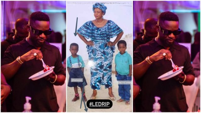 See The Childhood Photo Of Sarkodie and Her Mother Trending (+Photo)