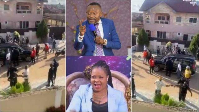 Rev Owusu Bempah storms Nana Agradaa's House With Macho Men Here Is Why (Watch Video)