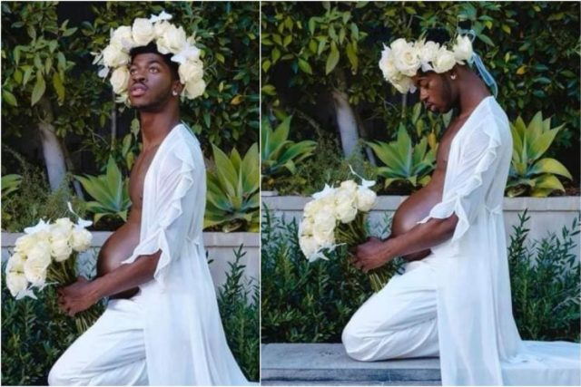 Popular American Gay rapper, Lil Nas X breaks the internet as he announces he's pregnant, shares stunning baby bump photos