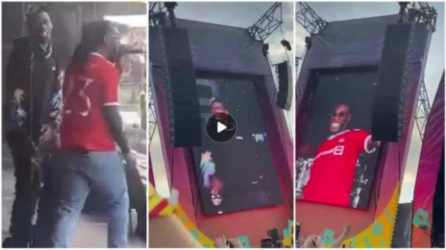 Paul Pogba joins Burna Boy on stage at Parklife festival, rocks 'Focus'(Watch ideo)