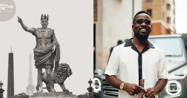 Statue of Sarkodie Is Causing Stir On social media For The First Time (Photos)