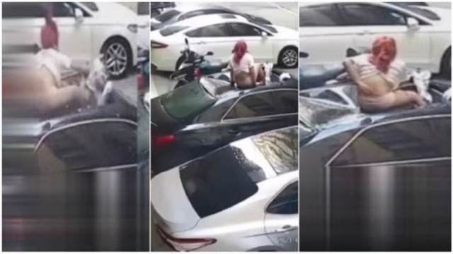 Side Chic Breaks Her Waist As She Falls From The 6th Floor Of A Storey Building As The Wife Of The Married Man Gets Home (Watch Video)