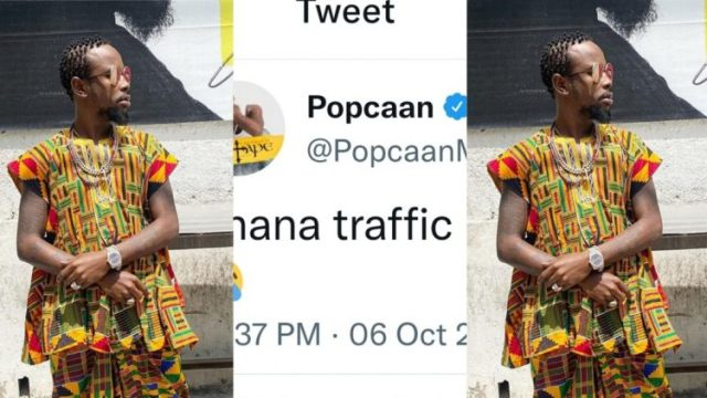 """""""Ghana traffic brazzy"""" - Popcaan Sweats Over The Situation in Accra"""