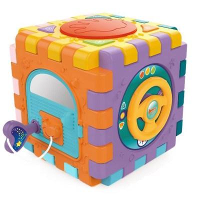 Cub Demontabil Cu Activitati  Lumini Sunete Si Forme Colorate