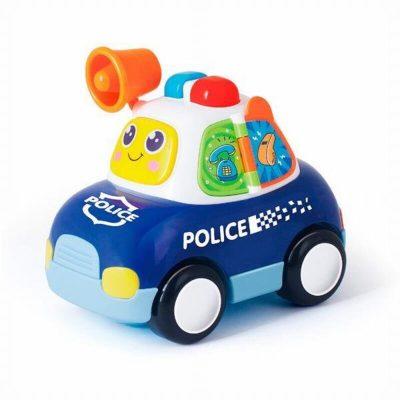 mașină poliție bebeluși cu sunete și lumini