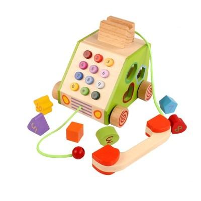 Jucarie telefon din lemn interactiv