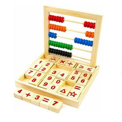 Joc de socotit din lemn cu numărătoare și calcule