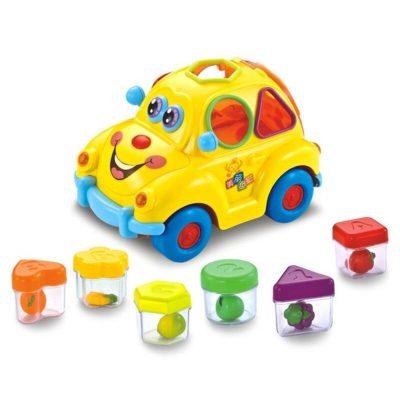 Mașinuță sortator Hola cu sunete, fructe, forme și culori