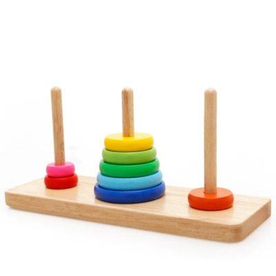 joc educativ din lemn turnul din hanoi