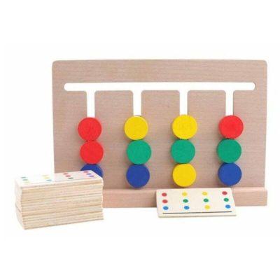 Joc Montessori de asociere si sortare dupa culori