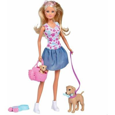 Păpușă cu cățeluși la plimbare - Steffi Love