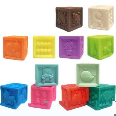 Set 12 cuburi moi cu diferite forme și texturi