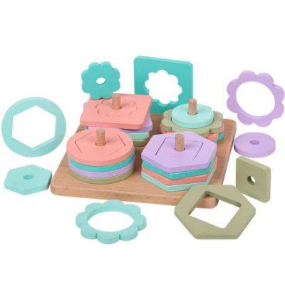 Jucărie Montessori sortator cu forme geometrice