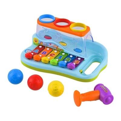 Jucărie xilofon cu mingiuțe și ciocănel Hola