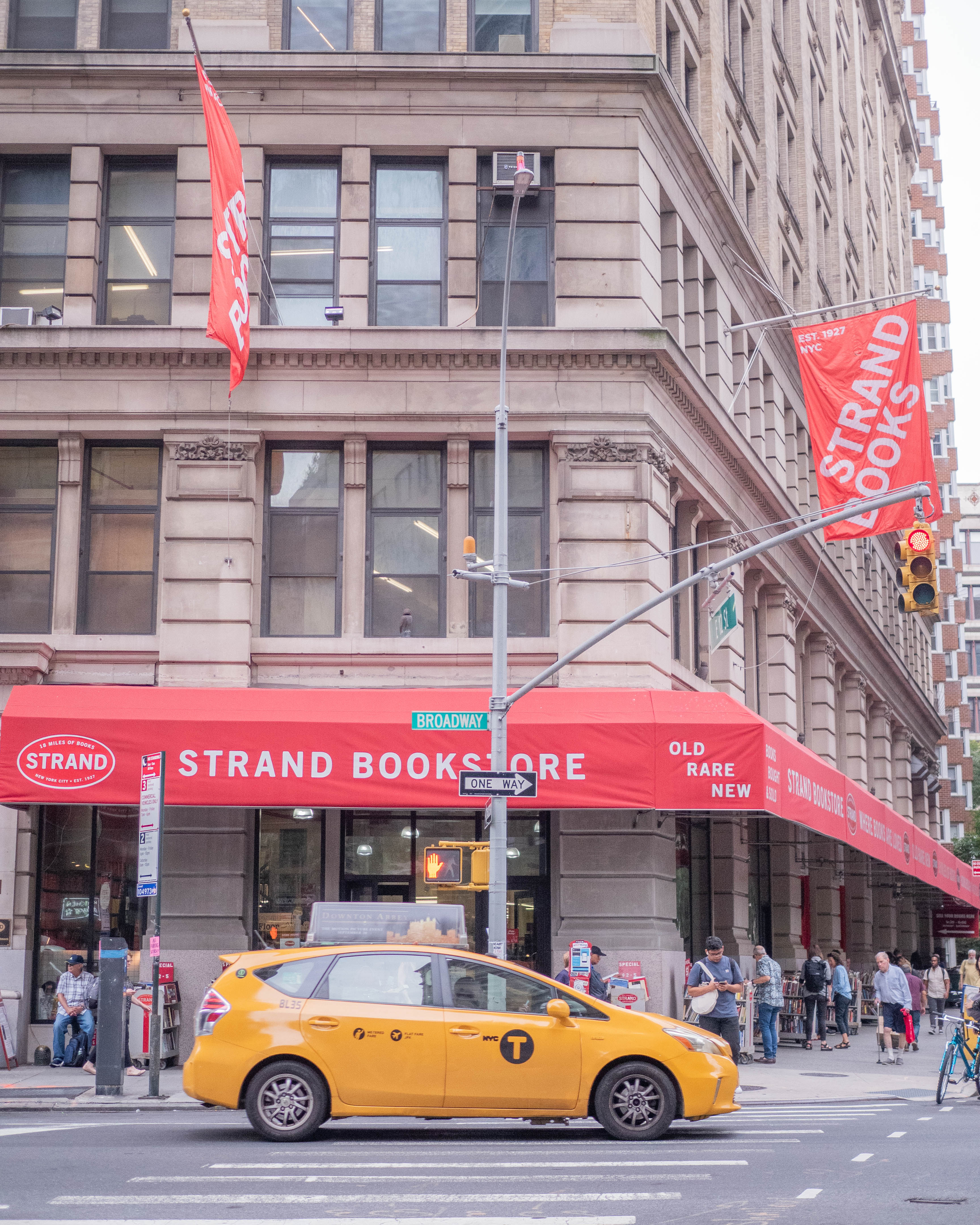 The exterior of Strand Bookstore, an NYC institution