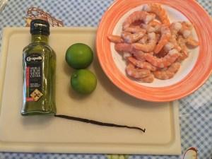 Scampi met frisse limoenmarinade de ingrediënten