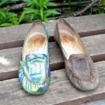 Обновляем старые туфли.