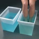 Укрепляем сосуды, принимаем контрастные ванны.