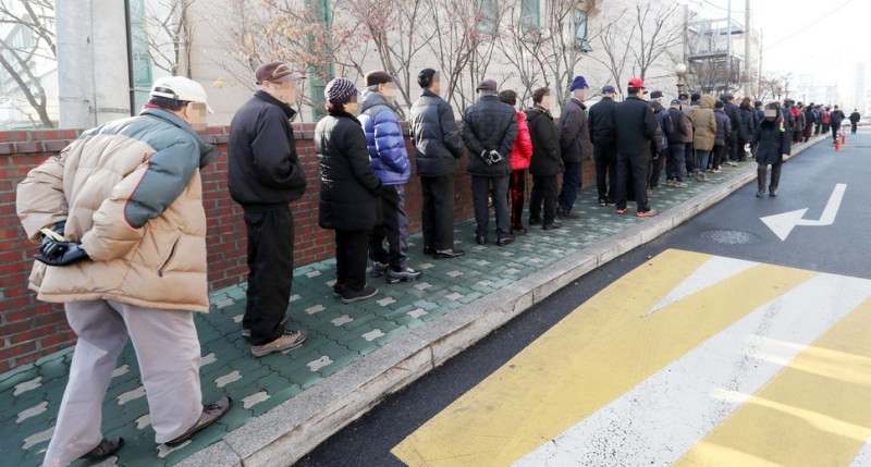 The line outside the post office probably