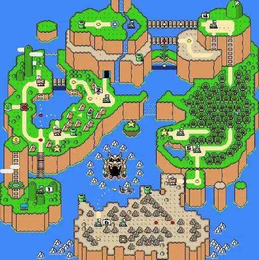 Super Mario World overworld map