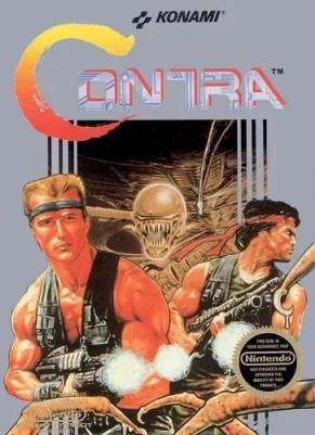 Contra NES cover