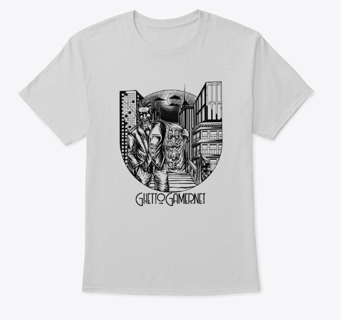 White ghetto gamer joker shirt