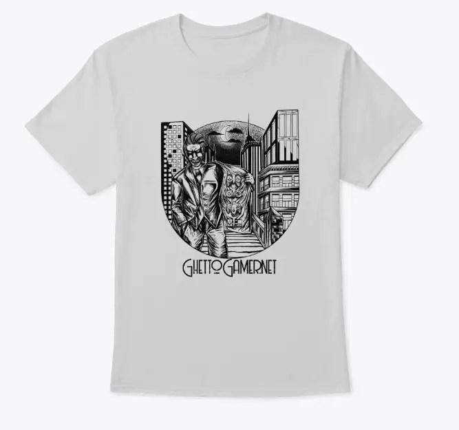 White ghetto gamer joker shirt