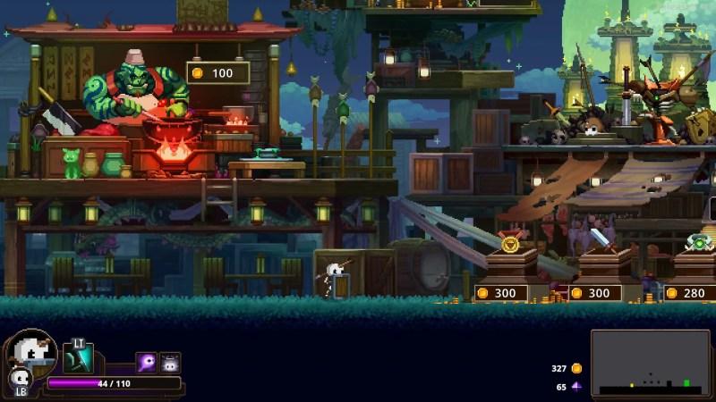 Merchant caravan in Skul: The Hero Slayer Steam review