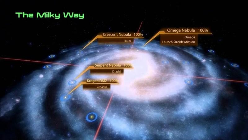 Mass Effect navigation menu