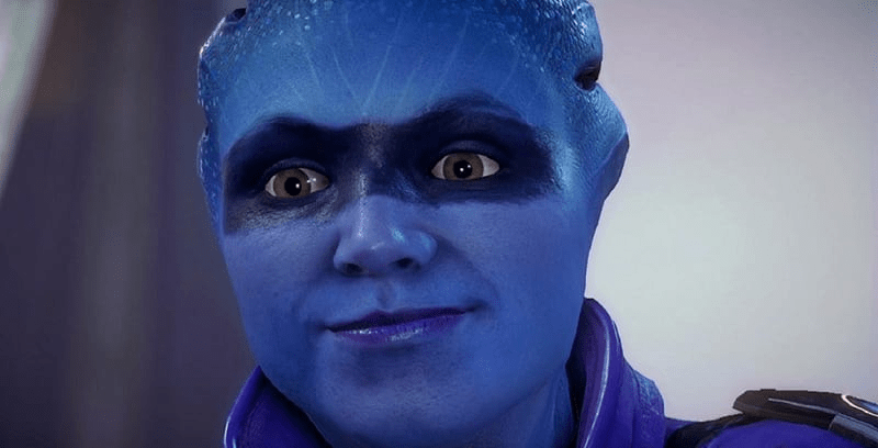 Mass Effect: Andromeda blue face