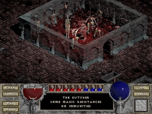 Diablo I screenshot - bloody battle
