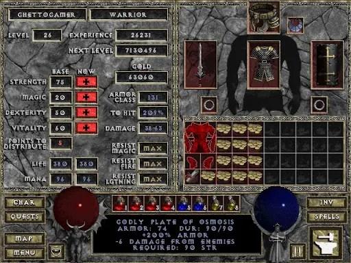 Diablo 1 stats