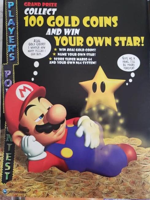 Nintendo Power gold coins contest