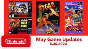Nintendo Switch Online May updates