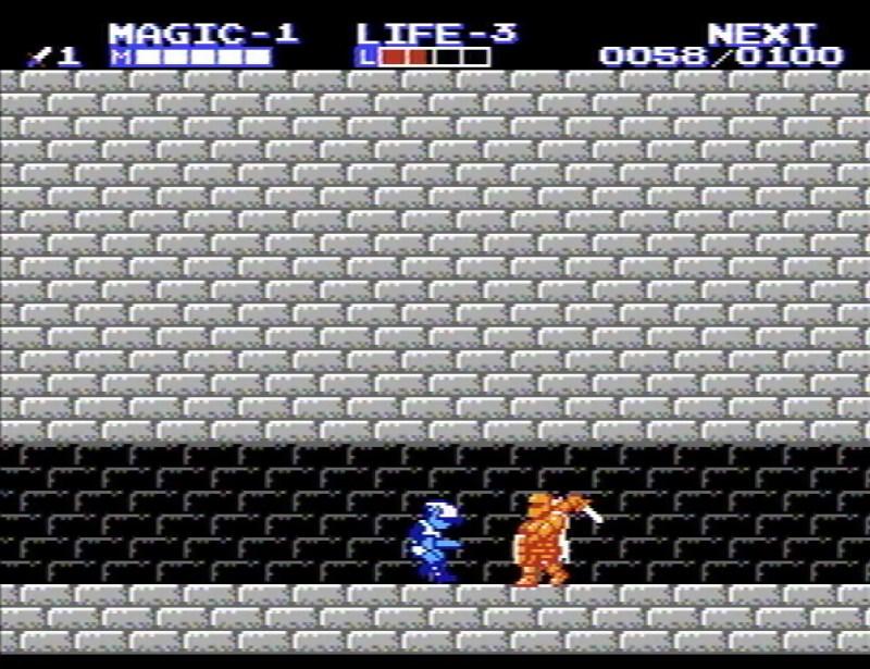 Zelda 2 The Adventure of Link Iron Knuckle battle