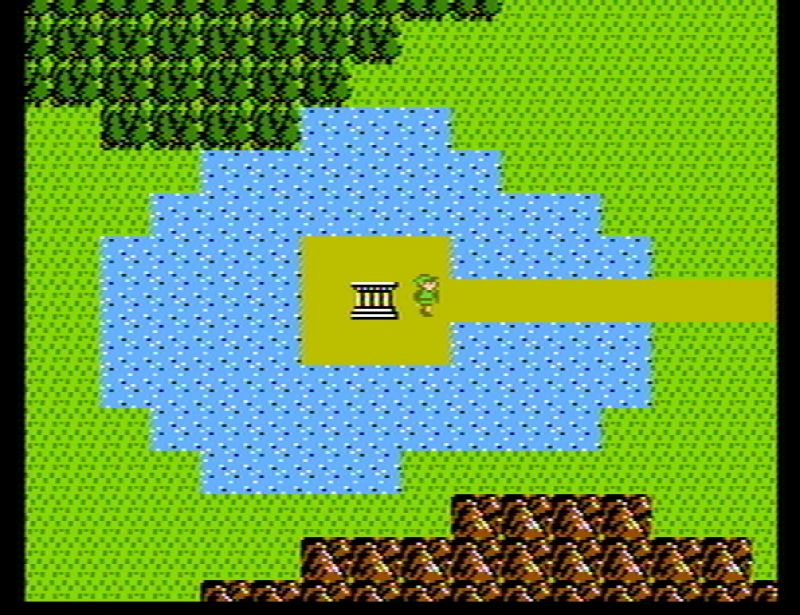 Zelda 2 overworld screenshot